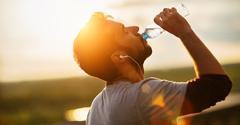 As the heat outside increases, so should your water intake!